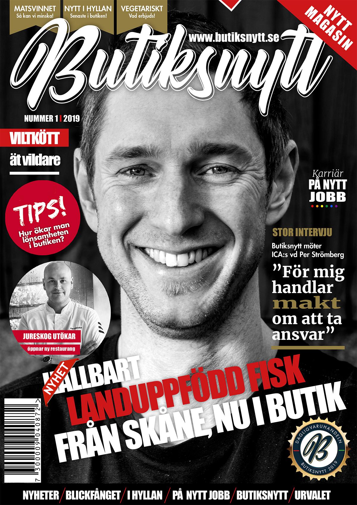 Omslag, cover Butiksnytt 2019