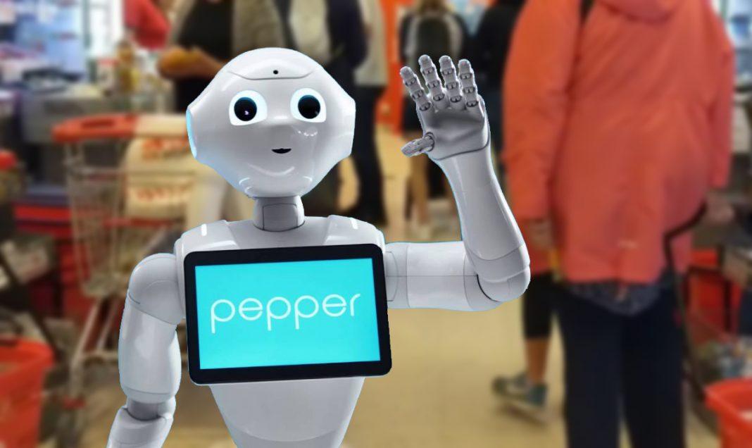 Pepper robot besökte ICA