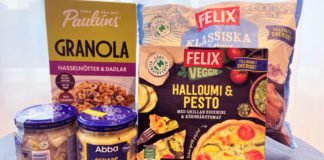 Paulúns granola, Abbas sill, Felix Rösti och vissa av Felix pajer är några av produkterna som fått den nya klimatmärkningen - Butiksnytt