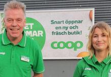 Butikscheferna Claes Wallman och Kim Johansson ser fram mot premiärerna för nya Coop Råtorp och Coop Strand idag-Butiksnytt