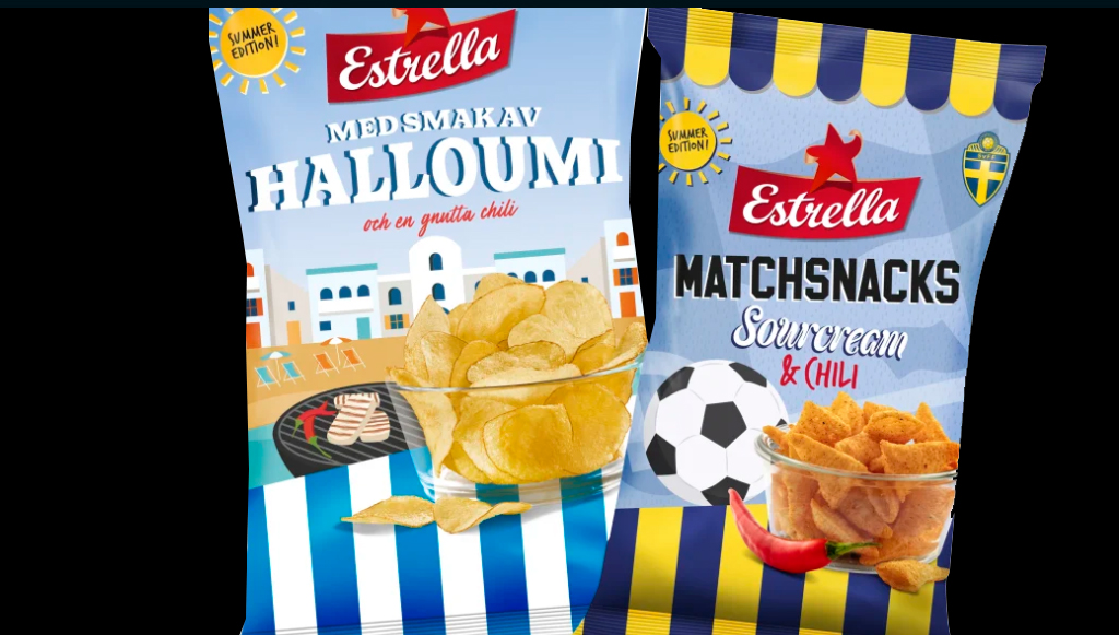 Estrella snackisar Halloumi och sourcream chili